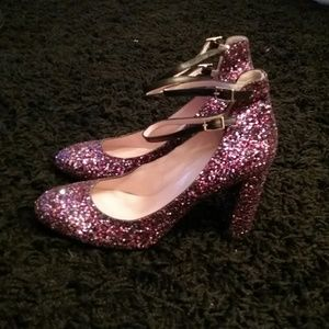 BN Kate Spade Baneera glitter Mary Jane pumps